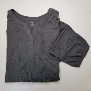 Lands End Pintuck Stretch Jersey Knit Tunic